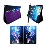 MobileExtraLtd® Apple Ipad Mini New Primium Quality PU Leather Magnetic Wallet Flip Case Cover+Stylus (Ultra Butterfly Style 7)