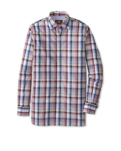 Hickey Freeman Men's Long Sleeve Plaid Woven Shirt