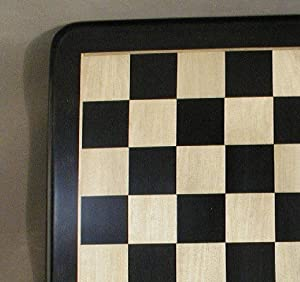 "21"" Ebony and Maple Thick Veneer Chess Board"