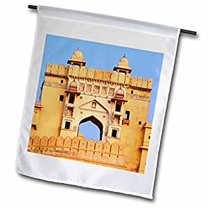 Danita Delimont - India - Historic Amber Fort, Jaipur, India-AS10 AJE0215 - Adam Jones - 12 x 18 inch Garden Flag (fl_72664_1)