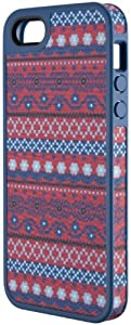 Speck Products FabShell Fabric-Covered Case for iPhone 5 & 5S - Retail Packaging - DigiTribe Pink/Blue