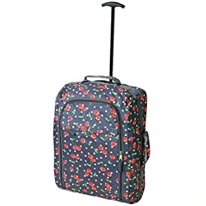 Borderline Cherry Cabin Approved Soft Wheeled Bag (Grey Cherry)