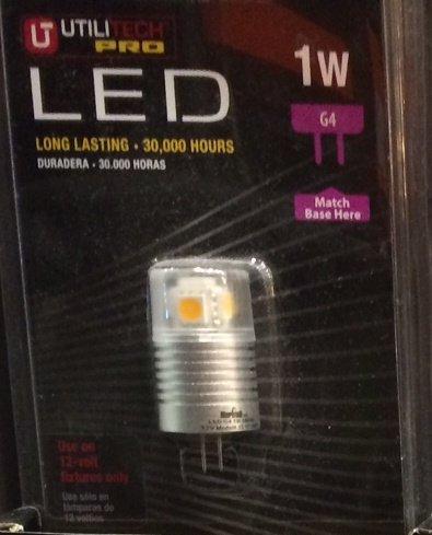 Utilitech Led 409433 Landscape Accent Bulb 1W (10W Equivalent) G4 Capsule Bipin 12V