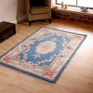 Think Rugs Prism PR-101 Wool Blend Indian Hand Tufted Rug, Multi, 150 x 1230 Cm from Think Rugs