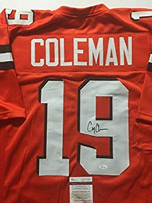 Autographed/Signed Corey Coleman Cleveland Browns Orange Football Jersey JSA COA