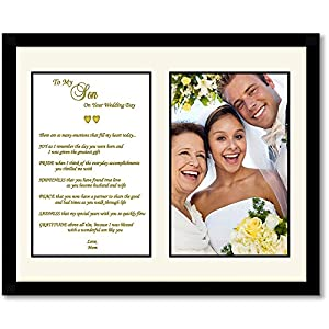 Wedding Gift From Parents To Son : Son Wedding Gift - Mother to Son Poem - Touching Wedding Gift to Son ...