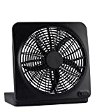 "O2-cool 10"" Battery-operated Adjustable Portable Fan with Adapter Can Use Batteries or Adapter(black)"