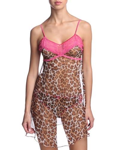 Mimi Holliday Women's Cheeky Minx Slip  [Leopard/Fuchsia]