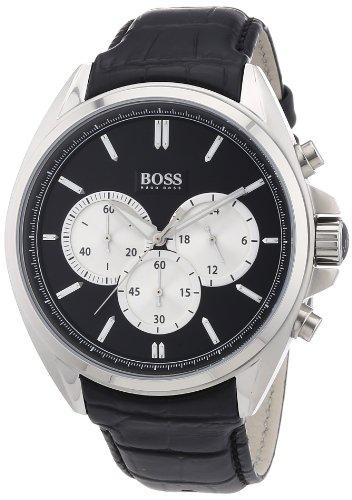 Hugo Boss 1512879 - Reloj con correa de caucho para hombre, color negro / gris