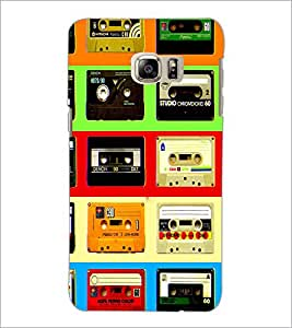 PrintDhaba Casettes D-4537 Back Case Cover for SAMSUNG GALAXY NOTE 5 (Multi-Coloured)