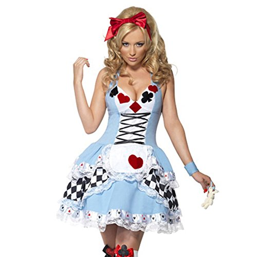 Lovery Valley Blue Three Styles Alice in Wonderland Dress Women