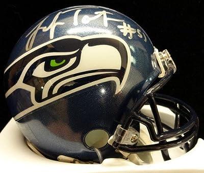 Lofa Tatupu Autographed Seattle Seahawks Mini Helmet Steiner Stock #73282 - Authentic Signed NFL Helmets