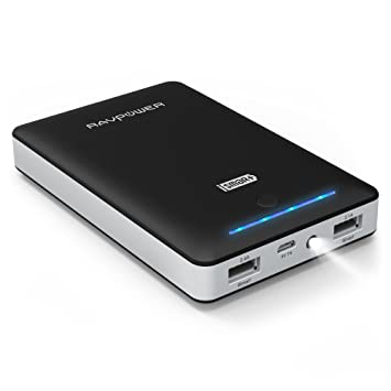 [Upgraded Capacity] RAVPower 16750mAh Portable Charger Most Powerful 4.5A Output External Battery with iSmart Technology