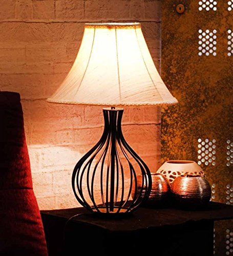 YASHASVI GOGLET TABLE LAMP KHADI FABRIC SHADE