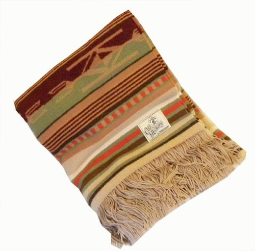 Old Hickory Wool Santa Fe Tan Throw Blanket By Pendleton front-501234