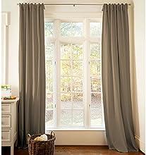 Carousel Designs Solid Mocha Brown Drape Panel 64-Inch Length Standard Lining 42-Inch Width