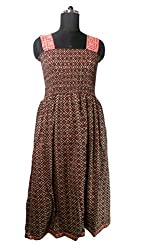 Anuze Fashions New Fashion Casual Wear Maroon Colour Paisley Designs Print Cotton Smoking Long Dress For Women's And Girl's