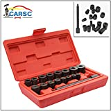 Clutch Alignment Tool Universal, 17Pc Car Alignment Tool Set Pilot Bearing Removal Kit with Flywheel