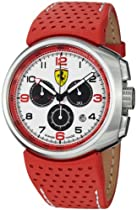 Ferrari F1 Fast Lap White Dial Chronograph Red Leather Mens Watch FE-10-ACC-CP-WT