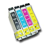 The Ink Squid 1 Set Of T0441/T0442/T0443/T0444 (T0445) High Capacity Compatible 'Parasol' Ink Cartridges For Epson Stylus C64 Printer