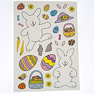 Make An Easter Bunny Stickers