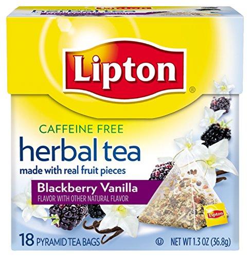 Lipton Herbal Pyramid Tea Bags, Blackberry Vanilla, 18 Count