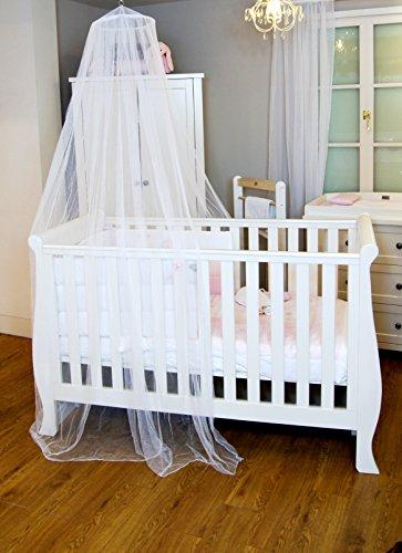 Mosquito Nets 4 U - Bianco Baby baldacchino / zanzariera per Lettino