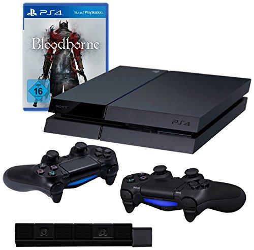 PlayStation 4 - Konsole inkl. Bloodborne + 2 DualShock 4 Wireless Controller + Kamera