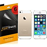 SUPERSHIELDZ- High Definition (HD) Clear Screen Protector For Apple iPhone 5 5S Front + Back + Lifetime Replacements Warranty iPhone 5S and iPhone 5 AT&T, Verizon, Sprint, T-Mobile [3 Front and 3 back] - Retail Packaging