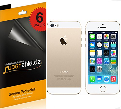 SUPERSHIELDZ- High Definition (HD) Clear Screen Protector For Apple iPhone 5 5S Front + Back + Lifetime Replacements Warranty iPhone 5S and iPhone 5