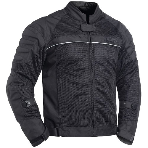 BILT Blaze Mesh Motorcycle Jacket - LG, Black