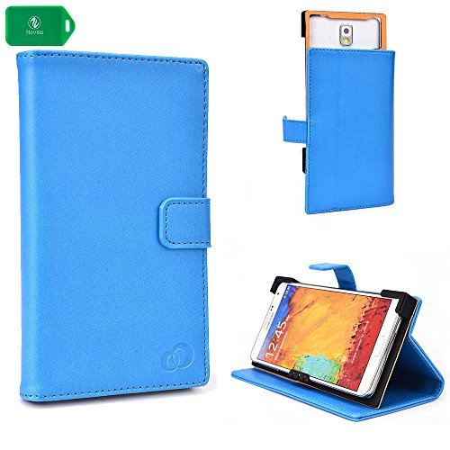 SMARTPHONE CASE WITH STAND- UNIVERSAL DESIGN IN BLUE UNIVERSAL FIT FOR ZTE Q705U Dual Sim 5.7 inch HD Android 4.2 Quad