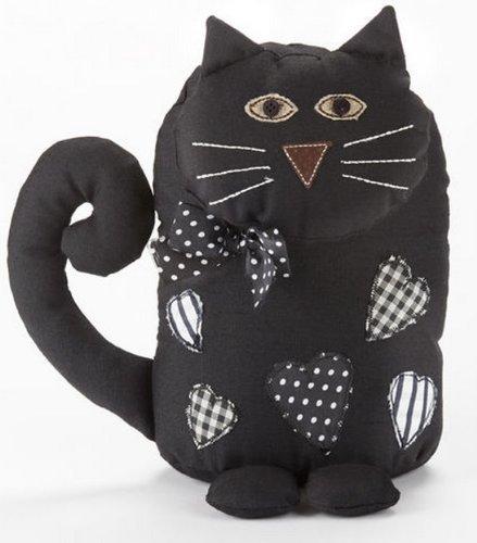 Amigurumi Black Cat Door Stopper : Black Cat Home Decor 6x8 inch Door Stop Fabric Weighted ...