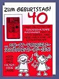 """XXL- Karte DIN A4 """"Zum Geburtstag ! 40, mit Do-It-Yourself-Schönheits-OP-Set"""" - Riesenkarte"""