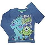 Boys Monsters Inc Long Sleeve Top 100% Cotton 2-3 Up To 9-10 Years