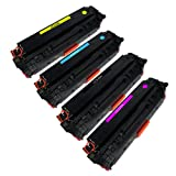 HP 304A (CC530A CC531A CC532A CC533A Black+Cyan+Yellow+Magenta pack) Compatible Toner Cartridge