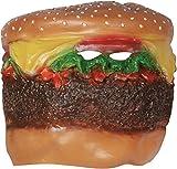 Loftus Cheeseburger Head Costume Face Mask Brown Multicolored OS