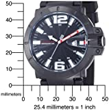 Tommy Hilfiger Men's 1790747 Sport Black Dial with White Numerals Black Silicon Strap Watch