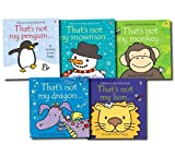Usborne That's Not My... 5 Books Collection Set touchy-feely Pack (Dragon, Tiger, Frog, Teddy, Lion) (That's Not My...)