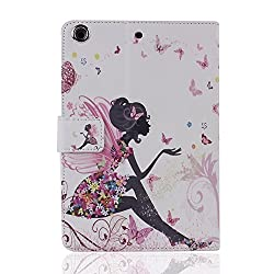Apple iPad Mini/iPad Mini 2 with Retina Display/iPad Mini 3 Case, Aroko(TM) Fashion Premium Leather Crown Bling Flip Folio Smart Stand Cover Case,Free Aroko(TM) stylus Pen(Color Random) (BLUE)
