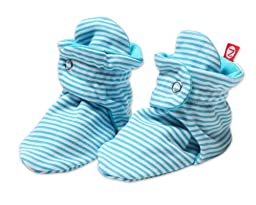 Zutano Baby-Girls Infant Candy Stripe Bootie, Pool, 6 Months