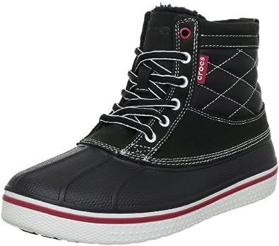 Crocs Men's Allcast Duck Shoe,Black & Yellow,11 M US