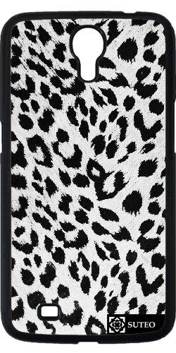 Hülle für Samsung Galaxy Mega 6.3 (GT-I9205) - Schwarz-Weiß -Leopard-Haut - ref 377