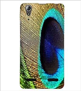 PrintDhaba Peacock Feather D-2216 Back Case Cover for LENOVO A6000 (Multi-Coloured)