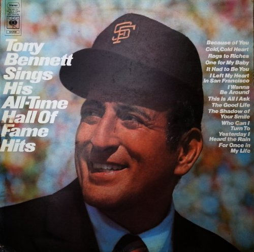 Tony Bennett: Sings His All-Time Hall Of Fame Hits [Vinyl Lp Record] front-207805
