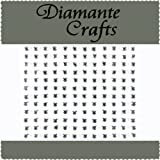 144 x 4mm Clear Diamante Hearts Self Adhesive Rhinestone Craft Embellishment Gems - created exclusively for Diamante Crafts