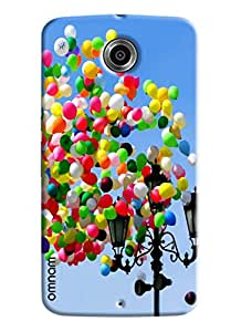 Omnam Colorful Ballons Flying Printed Designer Back Cover Case For Goolge Nexus 6