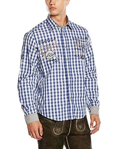 Stockerpoint Camicia Uomo [Blu/Bianco]