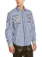 Stockerpoint Camisa Hombre (Azul / Blanco)