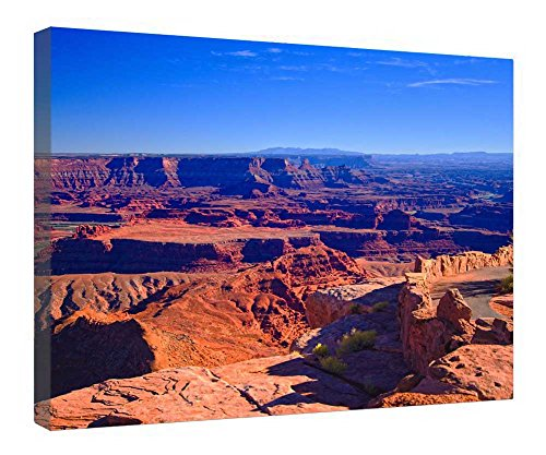 leequeen-canvas-prints-wall-art-dead-horse-point-moab-utah-wood-board-background-stretched-canvas-wr
